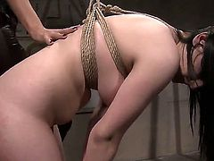 Brunette Estella with big jugs and Mandy Bright gets nude and then fondle each other
