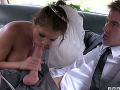 Horny bride bangs the driver