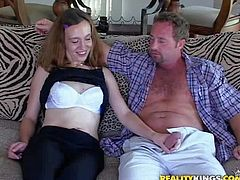 Shes one playful MILF who love sex fun so much. Flirty tall woman with natural tits strips down to her bare skin and then gives great blowjob to MILF Hunter. her fucks her mouth like crazy.