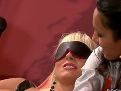 Two sweet lesbians with slim bodies making love on the couch, what could be better? Lovely blonde is seduced by her horny girlfriend into her first lesbian experience!