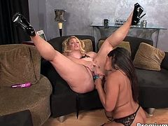 Skilled dyke is giving her advices to the other lesbian chick teaching her how to fuck. Watch them going wild and dirty.