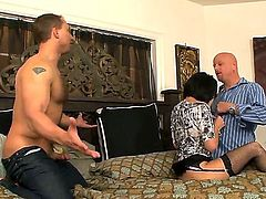 Roxanne Hall gets am anal fuck with horny guy John Magnum