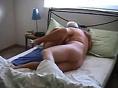 Horny mature couple having sex on video for first time
