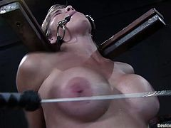 A horny-ass big titty bitch gets tied up and toyed with in this kinky BDSM sex scene packed with dirty perversion! Check it out!
