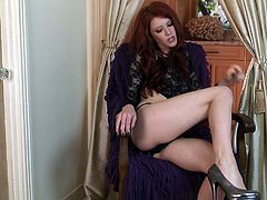 Sweet redhead likes to get nasty and masturbate her pussy with hard toys
