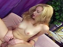 She's blonde, pretty and milky white but she has something very hot and hairy between her legs and she likes to get it stuffed. Nessey is a slutty blonde with a roomy, unshaved vagina and Dennis is about to take care of her. He licks her cunt, receives a blowjob and then fills Nessey's hairy vagina with his dick