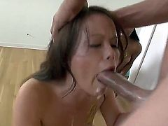 Bella Moretti, Kacie Starr and Katie St. Ives are competing which one can give the better blowjob