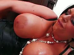 Incredibly hot, wild and stunning black haired porn star Kerry Louise amazes us with her fantastical huge boobs and stunning passion in this solo action.