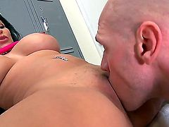 Johnny Sins fucks heavy chested Sophia Lomeli