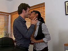 James Deen uses his throbbing pole to make Priya Anjali Rai happy