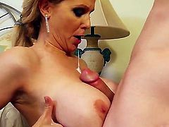 Jessy Jones came to meet his new girlfriend but suddenly he meets her super hot mother - Julia Ann