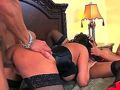 Awesome and crazy threesome fuck with nasty girls named Ava Devine and Kitty Langdon