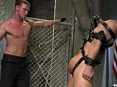 It's a gay on gay domination video with some pretty wild stuff going on, BDSM stuff. Cock torture, forced throat fucking... quite crazy.