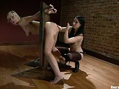 January Seraph and Tara Lynn Foxx are having some fun together. They turn each other on and then smash one another's assholes with all kinds of toys.