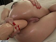 Watch the alluring and intense brunette slut Eliska Cross drilling her ass into heaven with a huge dildo before a black stud pounds it balls deep into a mind-blowing anal orgasm.