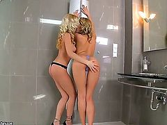 Here are two goddesses and they are both blonde and more than ready to put their tongues to use. Bianca Golden and Blue Angel are bringing new standards...