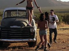 Our Badass girls are not crazy only after big cocks they love big bad cars too! Check them out having fun with a monster car and good old classics. These chicks have not only superb bodies they have some class too. Stay with us and see what other adventures our beauties have.