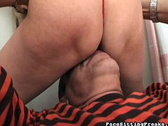 Horny blonde milf enjoys sucking and dominating hunk in wild femdom hardcore