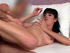 Fake agent nails hot brunette asha