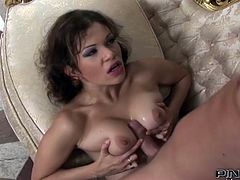 Sweet babe enjoys big cock stretching her tight ass in wild and amazing anal scene
