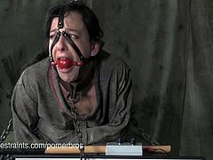 Elise Graves has her legs full of bruises. She is tortured further with an electric device activated by sound.