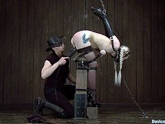 Check out this fucking insane bondage session with an ebony hottie and a gorgeous blonde babe! It's fucking hot as fucking fuck!