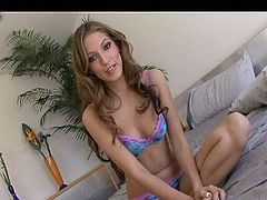 Arousing Jenna Haze likes posing in her sexy lingerie and tease with her forms