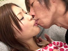 Naive Japanese fairy Suzuka Ishikawa gets her shaved cunt tongue fucked