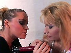Blonde spends time having sex with Kathia Nobili