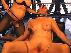 Mature Nina Hartley likes to dominate