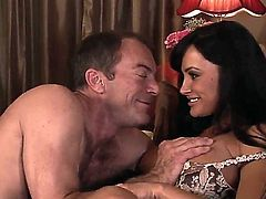 Lisa Ann cant live a day without getting her mouth fucked by hard dicked dude Randy Spears