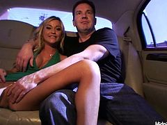 If you wanna enjoy a really hot and versatile slut, this Pornstar sex clip is surely for you. Bitchie slim blondie with sweet tits sucks her BF's dick for cum at home and gets pounded mish. Then they take a taxi to go to friends and too kinky chick pulls up her skirt on the back seat of the car, rubbing her wet cunt passionately.