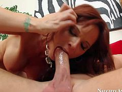 Syren De Mer is a hot-bodied sex hungry MILF that needs stiff young cock badly. She gets one and fulfills her sexual fantasies. Hot-ass woman gets banged doggystyle after dick sucking.