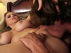 Tyler Nixon gets pleasure from fucking Asian Julia Ann with phat bottom and shaved pussy
