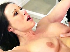 One of a kind black haired milf Kendra Lust with big firm tits and sexy french manicure gets her pink minge banged deep by ass licking Keiran Lee in mind blowing positions.
