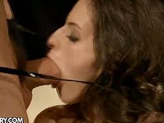 Ann Marie La Sante likes it rough and deep. Babe is naked and tied up. Horny guy fucks her mercilessly while she groans and moans.