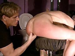 Lory satisfies her sexual needs with guys meat pole in her mouth