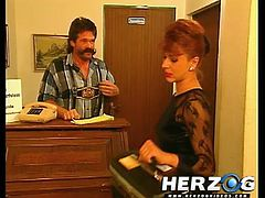 See a wild Bavarian doctor munching a sexy brunette patient's pussy in this hot 80's hardcore vid.
