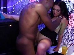 Slut at real party pumped