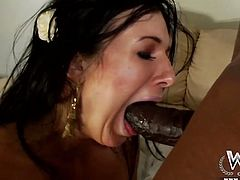 Awesome brunette with flossy ass is surely a brave one, cuz she's ready to take a strong black dick into her asshole. Horn-mad ardent and slim chick cries loudly throughout the house while being analfucked tough by black stud. Just don't waste time and check out horny gal in WCP Club sex clip.
