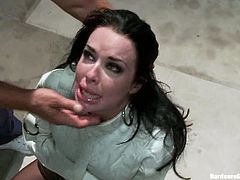 Every hole in Veronica Avluv's body is going to be penetrated by a cock in this gangbang where she seems to be enjoying the sex mayhem.