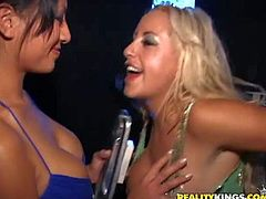 Horny pornstar ladies and dudes, Savannah, Mindy, Melanie, Josh,Gianna enjoy in the passionate and arousing pussy licking and cock sucking party in the club only for them.