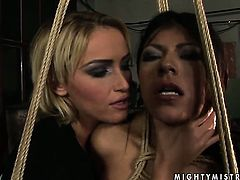 Blonde Yoha and Kathia Nobili have a lot of sexual energy to spend in lesbian action