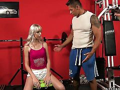 Blonde Alexa Wild gets her ass way attacked by hard cock