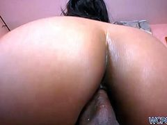 Well this black gal is a surely a great pro in riding a strong black cock. Ardent bitch has nice appetizing ass and my mouth waters. Zealous curvy hooker wanna try something new and begs to polish her anus properly.