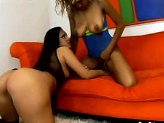 Nothing can stop these black lesbos from gaining dozen of delight tonight. Bitches with droopy boobs and rounded asses go nuts while licking each other's juicy cunts. Sex toy will be more than useful for drilling their wet pussies properly, cuz both lewd bitches thirst for multiple orgasm.