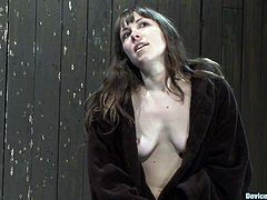 The sexy girl featured here is getting toyed for an orgasm as she's bounded in this bondage porn video.