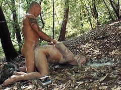 Yes, the trees... That's where all the bondage and dominance and sex take place in this kinky-ass scene right here. Check it out!