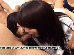 superb japanese girls have fun with an orgy