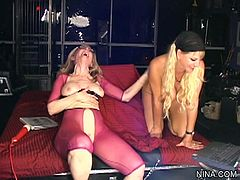 Nina Hartley and Vicky Vette are enjoying amazing sessions of femdom that plases them